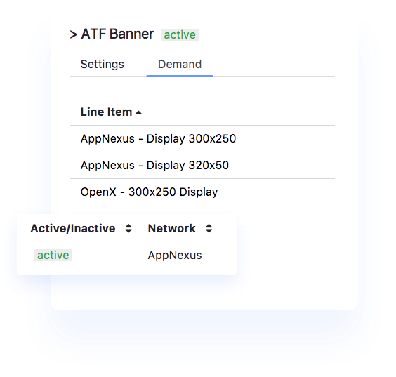 AppMonet Mobile Ad Network dashboard screenshot2